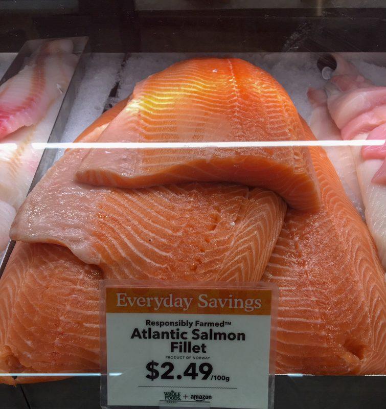 farm-raised Atlantic salmon