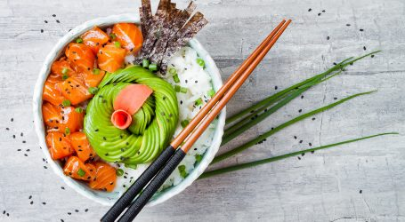 Try this Salmon Poke Bowl by Jen at Tastemade