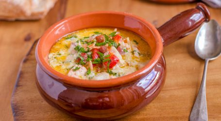 Salmon and Chorizo Hearty Chowder