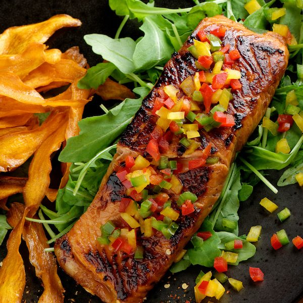 Sunshine Glazed Salmon
