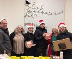 A team that gives to food banks together, stays together