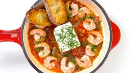 Shrimp Saganaki Recipe