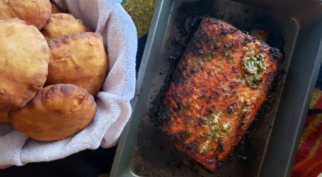 bakes and salmon