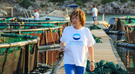 Nancy Panteleimonitou's (pictured) fish farming operations are part of Greece's drive to make the aquaculture industry a pillar of its national economy and a vehicle to help replenish Mediterranean wild stocks.